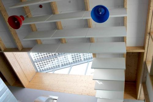 Insonorisation du plafond par baffles acoustiques - Collège d'Elven