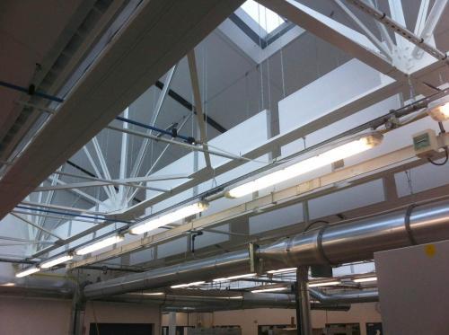 Pose de baffles acoustiques suspendues - Lycée Duguesclin d'Auray