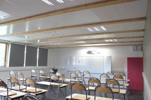 Pose de faux plafond modulaire - Collège de Plescop