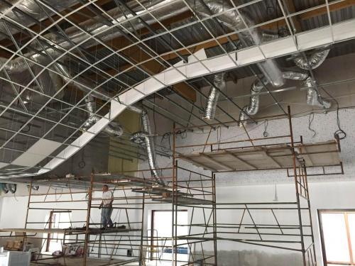 Ossature de plafond suspendu - Salle multifonction d'Evellys